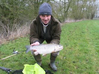 John Kemp with a 7lb+ Monster Thames Chub