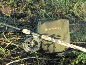 Keeping it simple: Rod, Reel, Net and Bait Pouch